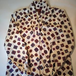 Worthington Blouse Diamond Pattern